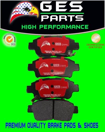2 SETS Front & Rear Pads 2004-2010 Sienna  D906 & D995